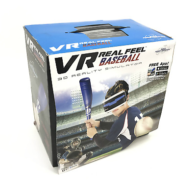 VR Real Feel Baseball 3D Reality Simulator Bluetooth 8+ Ages #NO7362