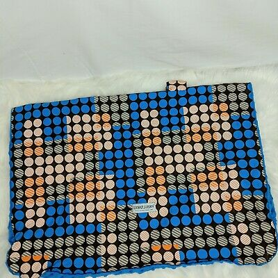 Carseat Canopy Aiden Minky Blue Brown Orange Dot Car Seat Cover Unisex