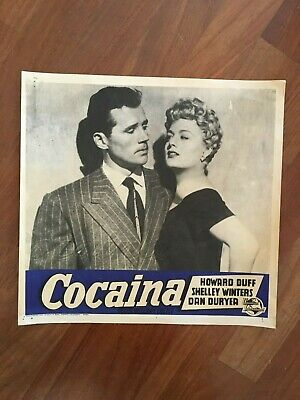 FOTOBUSTA,COCAINA Johnny Stool Pigeon,Howard Duff,Shelley Winters Castle Noir