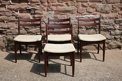 Four Mid Century Style Dining Chairs