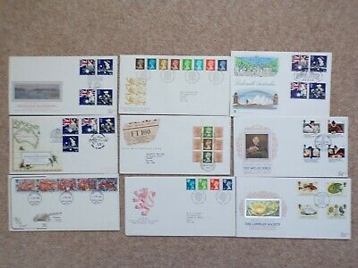COLLECTION OF 9 BRITISH GB FIRST DAY COVERS FDCs - 1988 - LOT 41