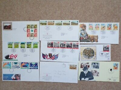 COLLECTION OF 9 BRITISH GB FIRST DAY COVERS FDCs - 1994 - LOT 48