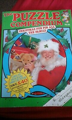 the puzzle compendium no 34 christmas 1990 new unused colour collectors