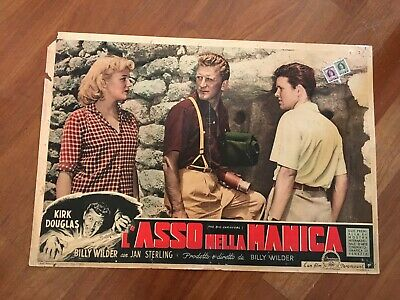 FOTOBUSTA,L'ASSO NELLA MANICA,Ace in the Hole,Billy Wilder,Kirk Douglas,1951