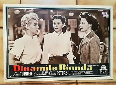 "DINAMITE BIONDA  "" Keep Your Powder Dry "" LANA TURNER FOTOBUSTA ORIGINALE"