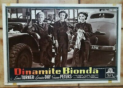 "DINAMITE BIONDA  "" Keep Your Powder Dry "" LANA TURNER FOTOBUSTA ORIGINALE 2"