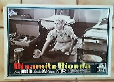 "DINAMITE BIONDA  "" Keep Your Powder Dry "" LANA TURNER FOTOBUSTA ORIGINALE 3"
