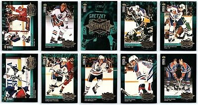 1995-96 UPPER DECK WAYNE GRETZKY RECORD COLLECTION COMPLETE INSERT Set Lot Rare