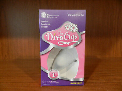 The Diva Cup model 1 one menstrual cup 12 hour protection New & Sealed Box HB