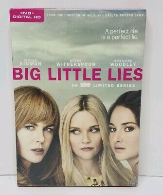Big Little Lies HBO Limited Series (2017, 3-DVD Set + Digital HD) NEW SEALED