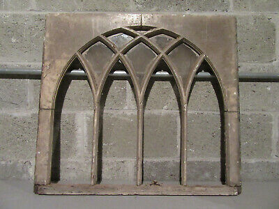 ~ Antique Window Sash With Gothic Arches ~ 30 X 27 ~ Architectural Salvage