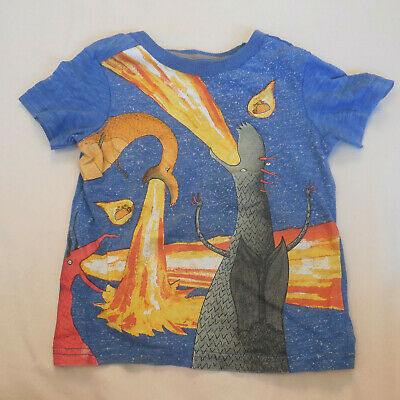 Dragons Love Tacos Boys T Shirt 4T Cartoon Short Sleeve Graphic Cotton Blue