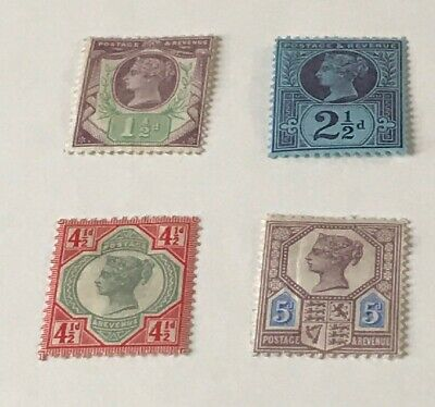 GB Q.V Selection of 4 Jubilee Issue Stamps  All MINT