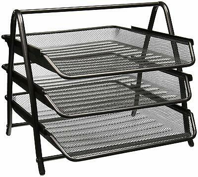 Ikea Dokument Mesh 3 Tier Document Letter Tray gray silver Metal 400.872.31