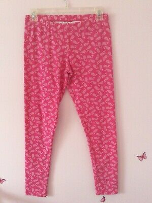 Girls VINEYARD VINES Pink and White Whale Tail Legging Pants Size XL 16