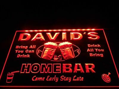 Name Personalized Led Neon Light Sign Custom Family Bar /& Grill Beer Home Gift