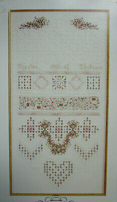 The Charity Sampler Hardanger Embroidery Pattern Pillow Band, Bell Pull & More