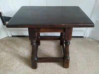 Antique Joint Coffin Stool Small Occasional Lamp/ Coffee Stool Table Foot Rest