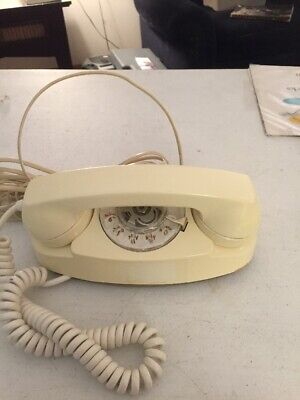 Vtg Western Electric Bell System Princess Beige Rotary Dial Desk Telephone 702B