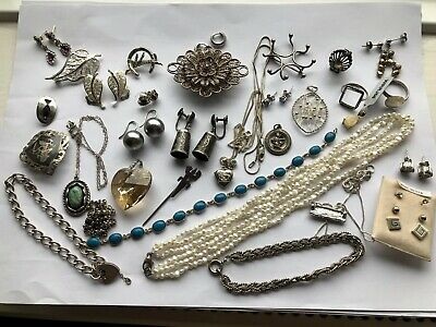 Large Collection Of Assorted STERLING SILVER Jewellery
