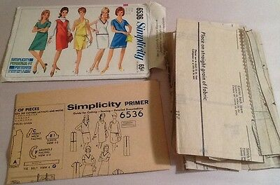 1960's VTG Simplicity Misses' Sewing Pattern One Piece Dress  Size 10 # 6536