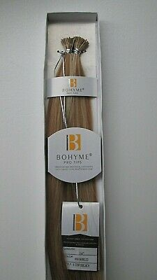 Bohyme Gold Pro Tip, Silky Straight,(PRE-GLUED,60 Pc ) I-Tip. Human Hair