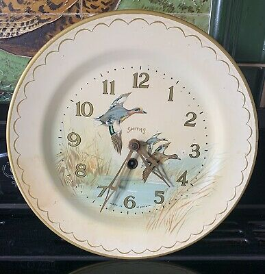 Smiths Wildfowl  Tin Plate Wall Clock