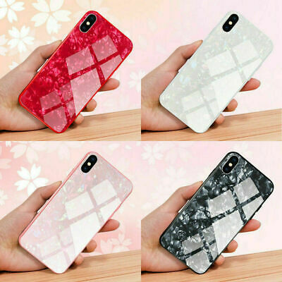 Case For Apple iPhone X XR XS Max 6S 7 8 Plus Marble Tempered Glass Hard Cover