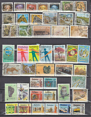 A Small Collection Of 74 Zimbabwe Stamps - Used