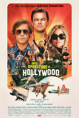 ONCE UPON A TIME IN HOLLYWOOD MOVIE POSTER 2 Sided ORIGINAL FINAL 27x40