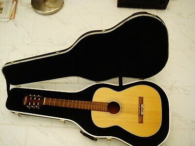 some vintage Granada Acoustic Classical Guitar with Nice hard case steel  neck