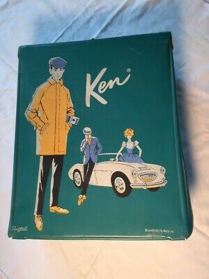 Vintage 1962 Turquoise Ponytail Trunk & Ken Clothing Shoes Uniforms Accessories