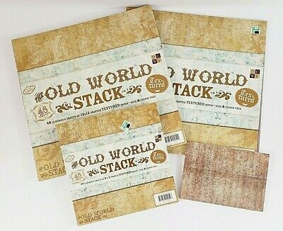 DCWV Paper Stack Old World Set Of 4 Partials 3 Sizes