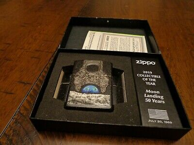 2019 Moon Landing 50Th Anniversary Collectible Of The Year Zippo Lighter #1026