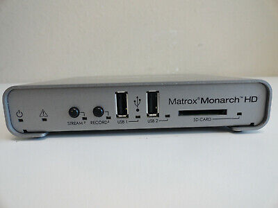 JJ7: Matrox Monarch HD Simultaneous Live Streaming Recording HDMI