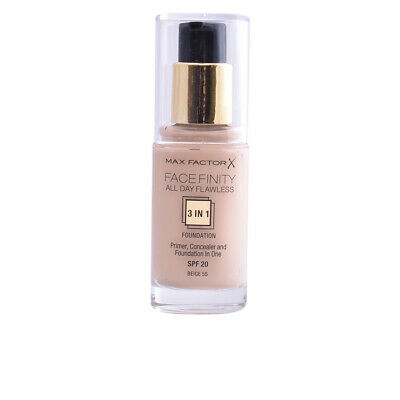 FACEFINITY ALL DAY FLAWLESS 3 IN 1 foundation #55-beige