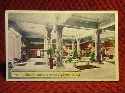 Early 1900'S. Interior. H.j. Heinz Co. Administration Bldg. Pitts Pa Postcard G7