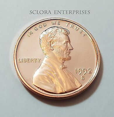 1992 S Lincoln Memorial *Proof* Cent / Penny  **Free Shipping**