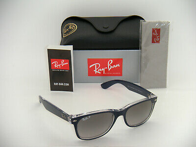New Authentic Ray-Ban RB2132 6053/M3 55mm Top Blue on Trasparent Grey Polarized