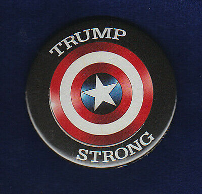 Trump    2020 Election  President Campaign Pinback  Captain America