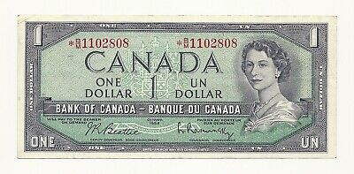 1954 Canada One Dollar Asterix Bank Note