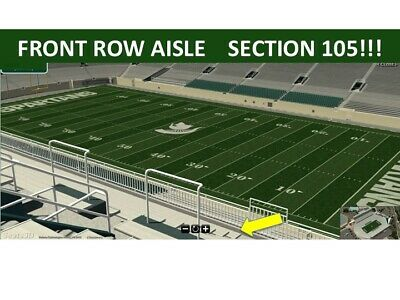 4 TIX MARYLAND @ vs MICHIGAN STATE 11/30 - UPPER SIDELINE FRONT ROW AISLE!