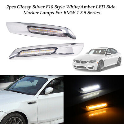 Clear Lens White Driving Light & Amber Side Marker Lamp for BMW 1 3 5 Series