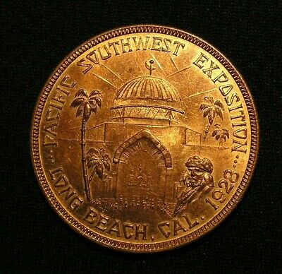 1928 Pacific Southwest Expo Medal - Long Beach Ca - Dobyns Footwear & Radio Kger