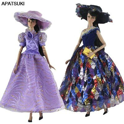 """Fashion Doll Clothes For 11.5"""" 1/6 Doll Dress Princess Gown Party Dress & Hat"""