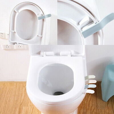 1PC Toilet Seat Cover sticking Lifter Handle Avoid Touching Hygienic Clea]
