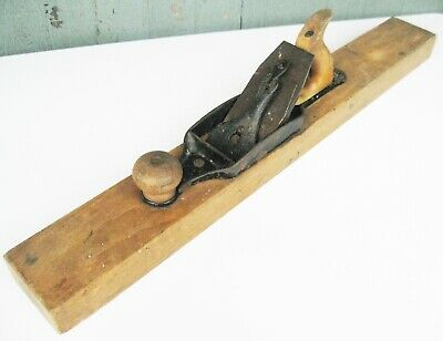 "Vintage Stanley Bailey No. 33 Transitional Jointer Wood Plane 28"" 1870-1918"