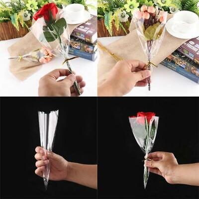 50/100Pcs Party Transparent Candy food Gift Flowers Bags Plastic Triangle Popcor