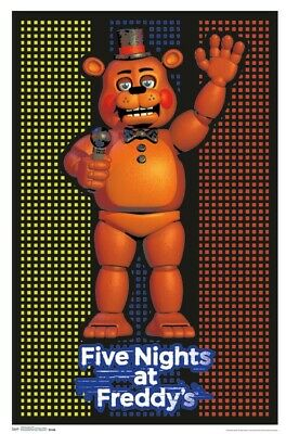 "Five Nights At Freddys  Blacklight Poster - 23""X35"" Flocked"