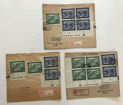 Germany group of 3 Leipziger Messe 1948 registered covers [y3370]
